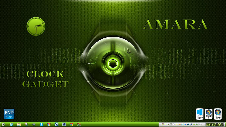 Amara Clock Gadget