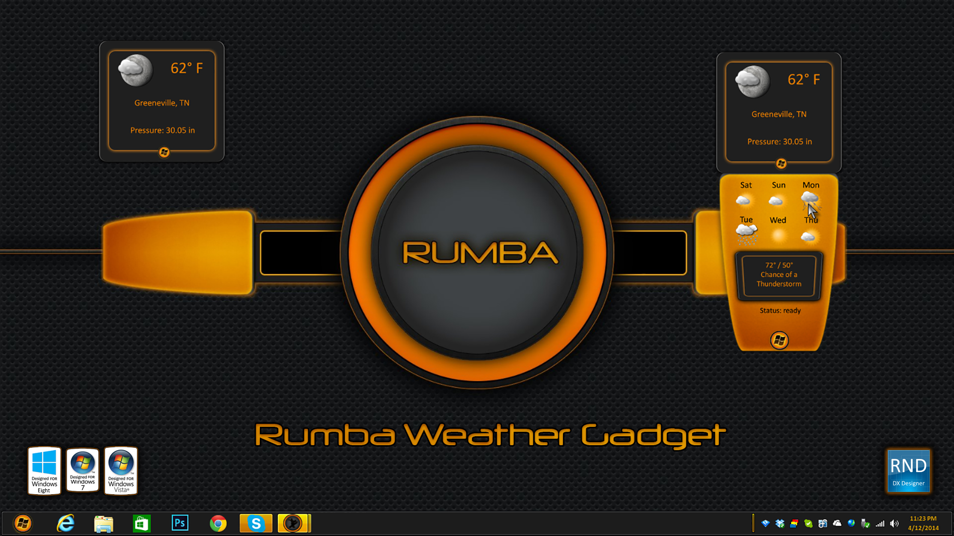 Rumba Weather Gadget