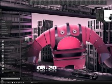 Giant Pink Robot