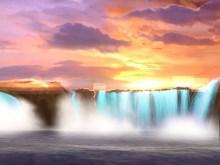 Sunset Waterfalls