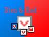 Bleu & red check