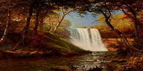 Waterfallscenery Painting