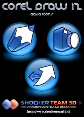 Corel Draw 12 Icons Aqua