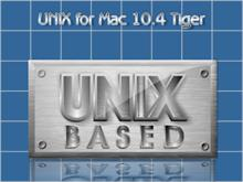 UNIX for Mac 10.4 Tiger