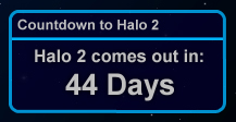 Halo2 Countdown