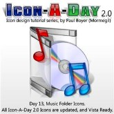 Icon-A-Day, Day 13, Music Folders