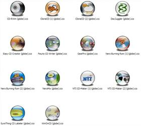 CD-R Apps 1 XP Icons (Globe)