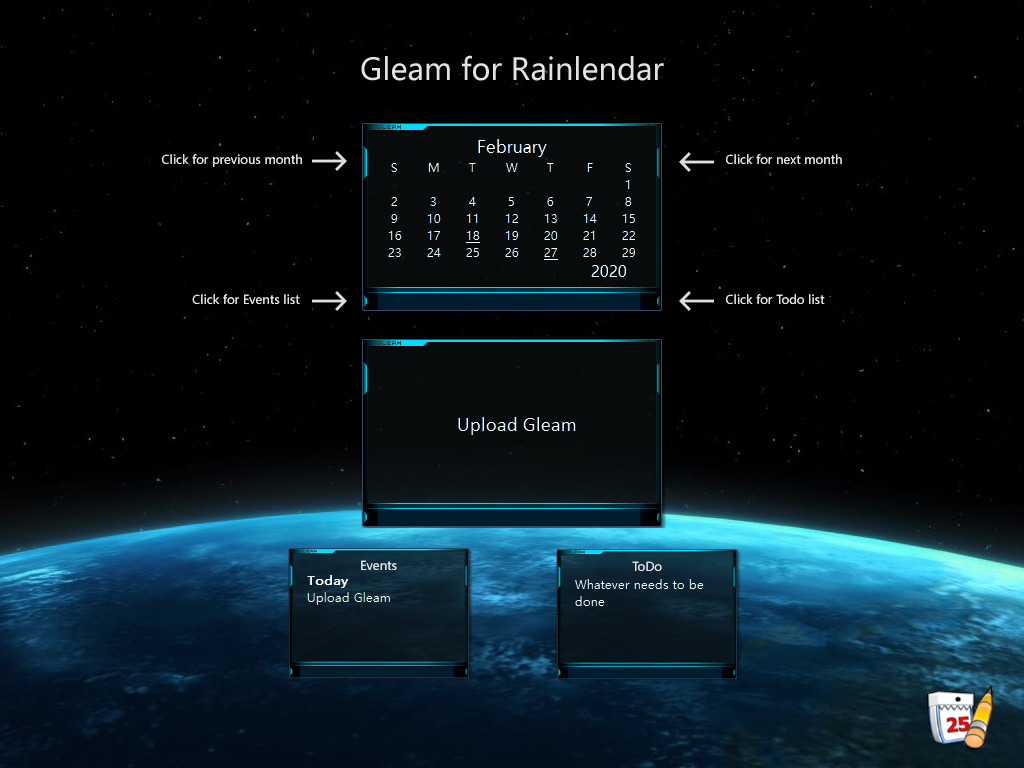 Gleam for Rainlendar