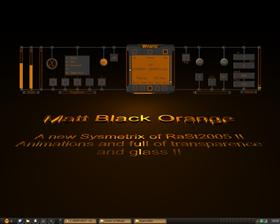 Matt black orange