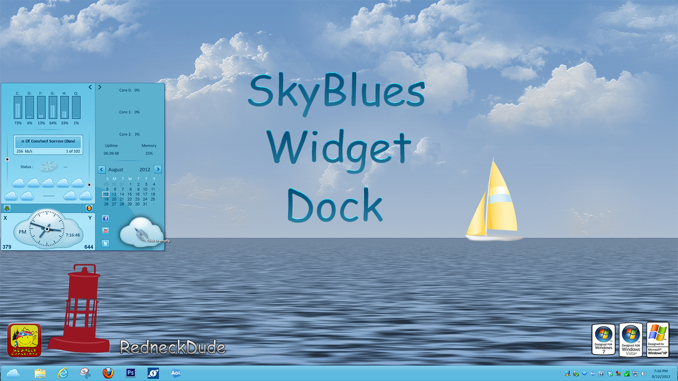 SkyBlues Widget Dock