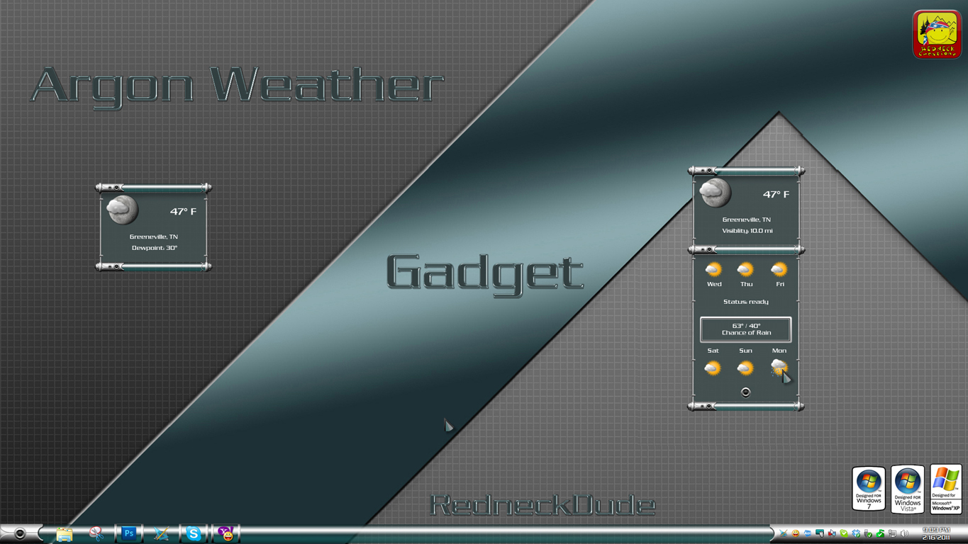 Argon Weather Gadget