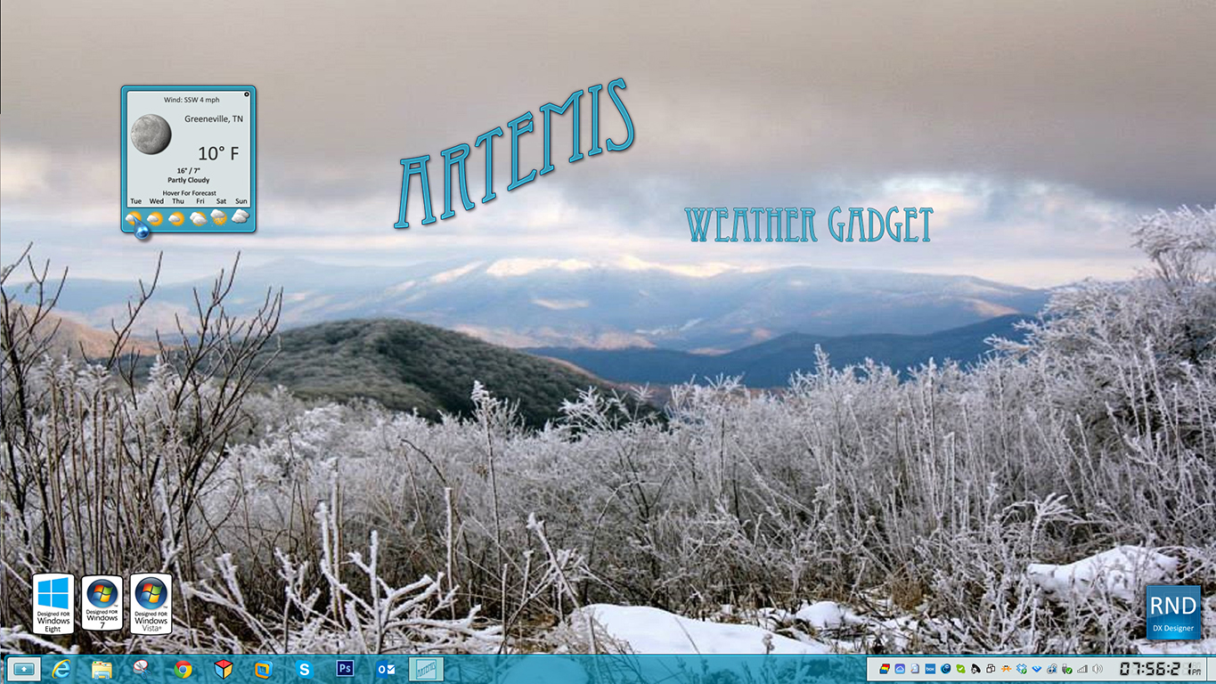 Artemis Weather Gadget