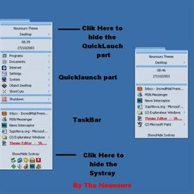 Desktop Bar Aqua OsX - English Pack