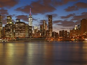 NYC Downtown and Brooklyn Bridge (Widescreen)