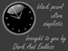 Black pearl ultra simplistic analog clock