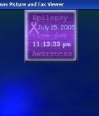 Epilepsy Awareness clock
