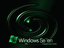 Windows 7 Green Swirl
