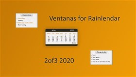 Ventanas for Rainlendar